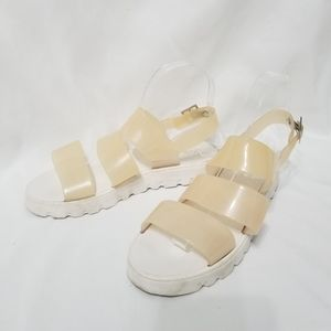 ASOS ASOS DESIGN Fadey Chunky Jelly Flat Sandals